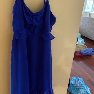 """Lulu's Dresses - Lulus  """"Lovely in Love"""" Royal blue Midi Dress - M"""